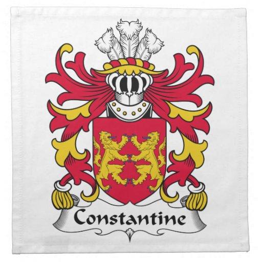 Escudo de la familia de Constantina Servilletas De Papel