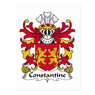 Escudo de la familia de Constantina Tarjetas Postales