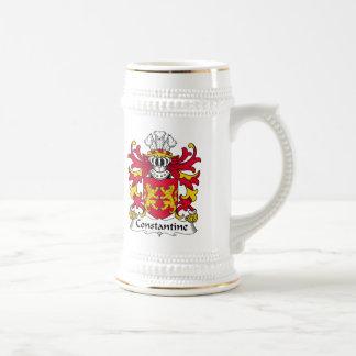 Escudo de la familia de Constantina Tazas De Café