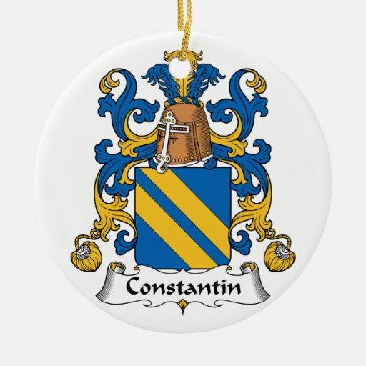 Escudo de la familia de Constantino Ornamento De Navidad