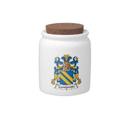 Escudo de la familia de Constantino Jarra Para Caramelo