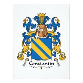 """Escudo de la familia de Constantino Invitación 6.5"""" X 8.75"""""""
