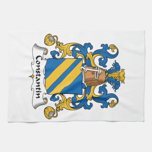 Escudo de la familia de Constantino Toallas De Cocina