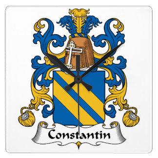 Escudo de la familia de Constantino Relojes De Pared