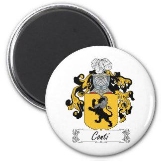 Escudo de la familia de Conti Imán Redondo 5 Cm