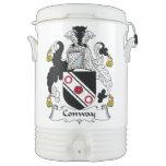 Escudo de la familia de Conway Enfriador De Bebida Igloo