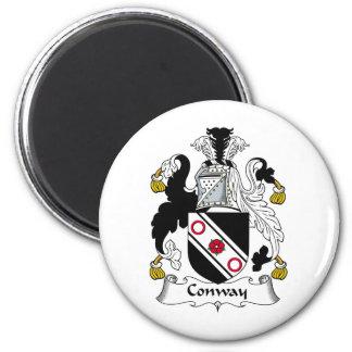 Escudo de la familia de Conway Imán Redondo 5 Cm