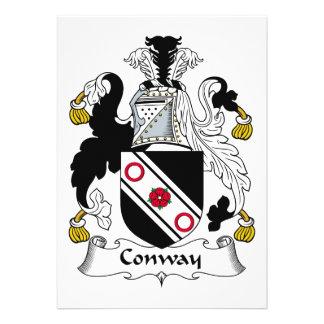 Escudo de la familia de Conway Anuncio Personalizado