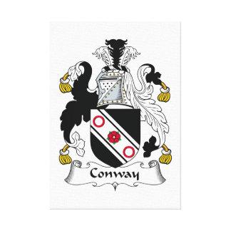 Escudo de la familia de Conway Lienzo Envuelto Para Galerías