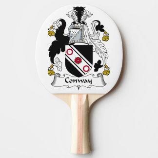 Escudo de la familia de Conway Pala De Ping Pong