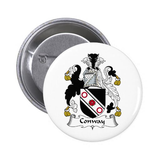 Escudo de la familia de Conway Pin Redondo 5 Cm