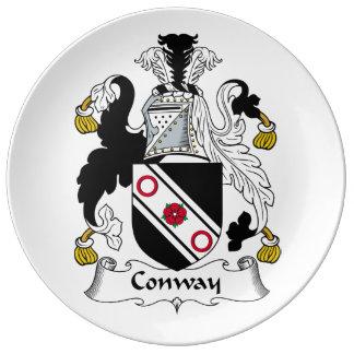 Escudo de la familia de Conway Platos De Cerámica