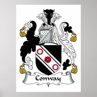 Escudo de la familia de Conway Póster