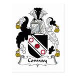 Escudo de la familia de Conway Tarjetas Postales