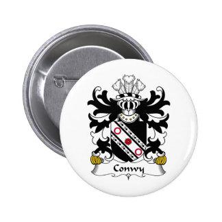 Escudo de la familia de Conwy Pin