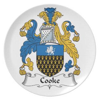 Escudo de la familia de Cooke Platos De Comidas