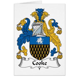 Escudo de la familia de Cooke Tarjeta De Felicitación