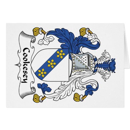 Escudo de la familia de Cookesey Tarjeta De Felicitación