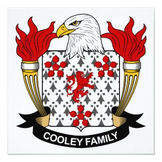"""Escudo de la familia de Cooley Invitación 5.25"""" X 5.25"""""""