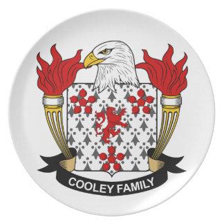 Escudo de la familia de Cooley Plato Para Fiesta