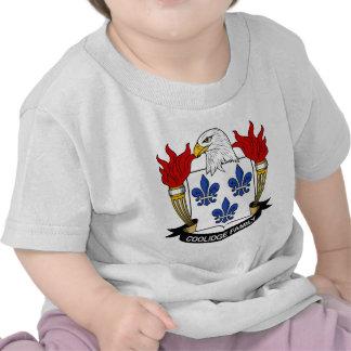 Escudo de la familia de Coolidge Camisetas