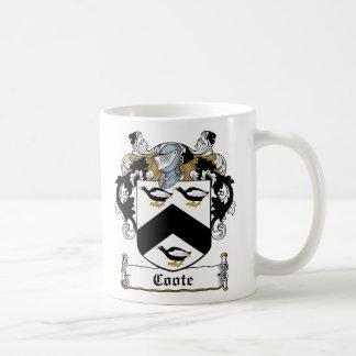 Escudo de la familia de Coote Taza De Café