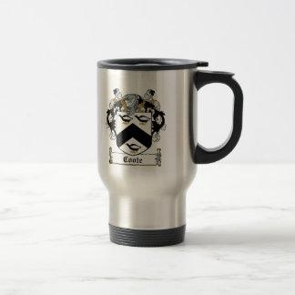Escudo de la familia de Coote Tazas De Café