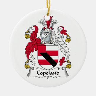 Escudo de la familia de Copeland Ornamento Para Reyes Magos
