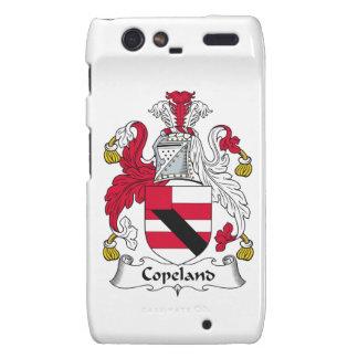 Escudo de la familia de Copeland Droid RAZR Fundas