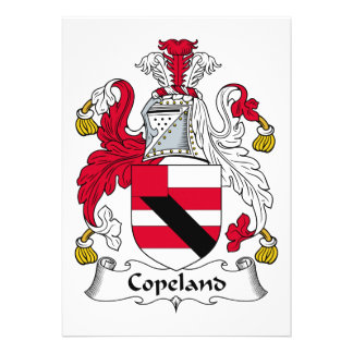 Escudo de la familia de Copeland Comunicado Personalizado