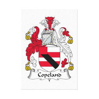 Escudo de la familia de Copeland Lienzo Envuelto Para Galerias