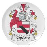 Escudo de la familia de Copeland Platos