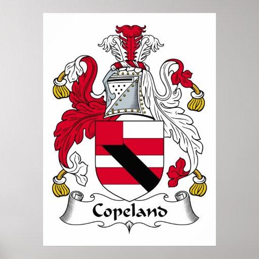 Escudo de la familia de Copeland Póster