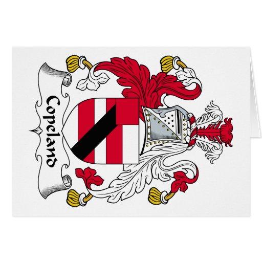 Escudo de la familia de Copeland Tarjeta