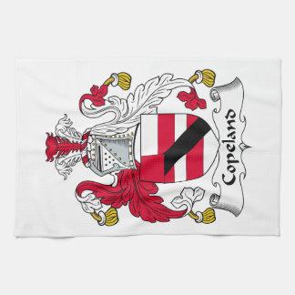 Escudo de la familia de Copeland Toalla