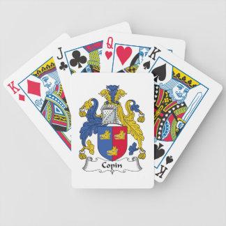 Escudo de la familia de Copin Baraja Cartas De Poker