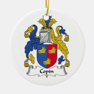Escudo de la familia de Copin Adorno Redondo De Cerámica