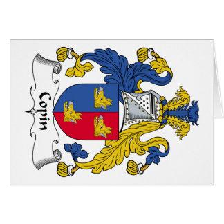Escudo de la familia de Copin Felicitacion