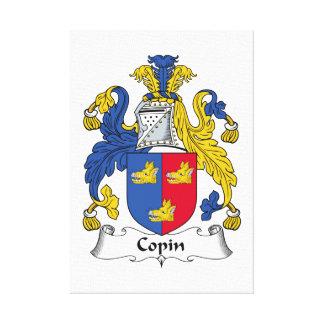 Escudo de la familia de Copin Impresión En Lona
