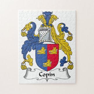 Escudo de la familia de Copin Rompecabezas Con Fotos