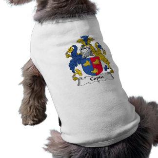 Escudo de la familia de Copin Ropa De Mascota