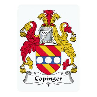 """Escudo de la familia de Copinger Invitación 5"""" X 7"""""""
