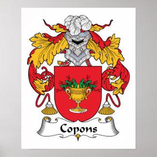 Escudo de la familia de Copons Posters