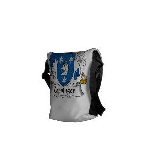 Escudo de la familia de Coppinger Bolsa De Mensajeria