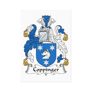 Escudo de la familia de Coppinger Impresión De Lienzo