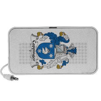 Escudo de la familia de Coppinger Notebook Altavoz