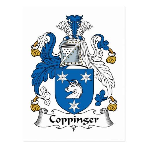 Escudo de la familia de Coppinger Postal
