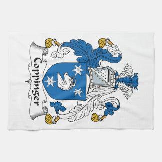 Escudo de la familia de Coppinger Toallas