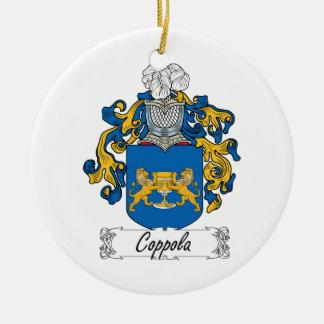 Escudo de la familia de Coppola Adorno Redondo De Cerámica