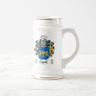 Escudo de la familia de Coppola Jarra De Cerveza